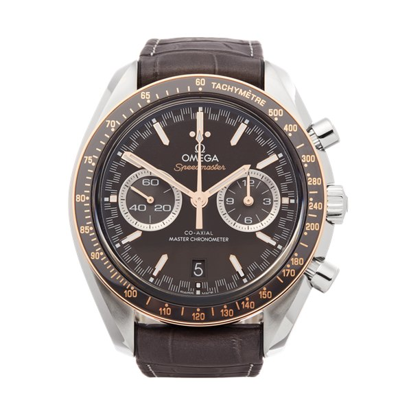 Omega Speedmaster Racing Chronograph Stainless Steel & Rose Gold - 329.23.44.51.06.001