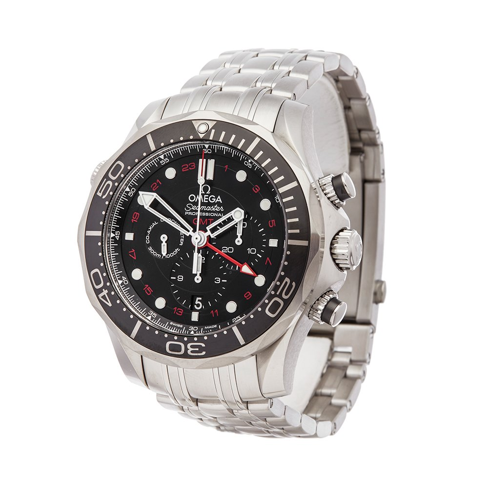 Omega Seamaster Gmt 300M Chronograph Stainless Steel 212.30.44.52.01.001