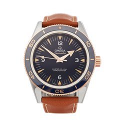 Omega Seamaster 300m Master Co-Axial 18k Dlc Stainless Steel & Rose Gold - 233.62.41.21.03.001