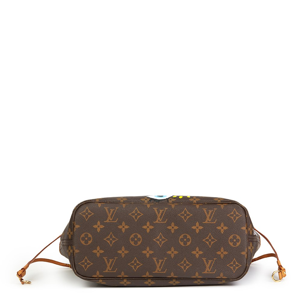 Louis Vuitton X Year Zero London Hand-painted 'Hey Good Lookin' Brown Monogram Coated Canvas Neverfull PM