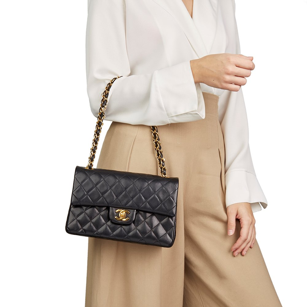 068eb05a675f Chanel Small Classic Double Flap Bag 1986 HB2345   Second Hand Handbags