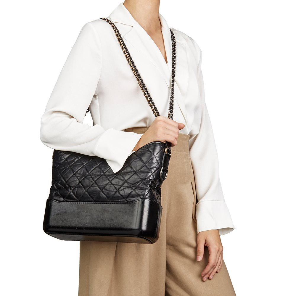 93b005747eac Chanel Medium Gabrielle Hobo Bag 2018 HB2347   Second Hand Handbags