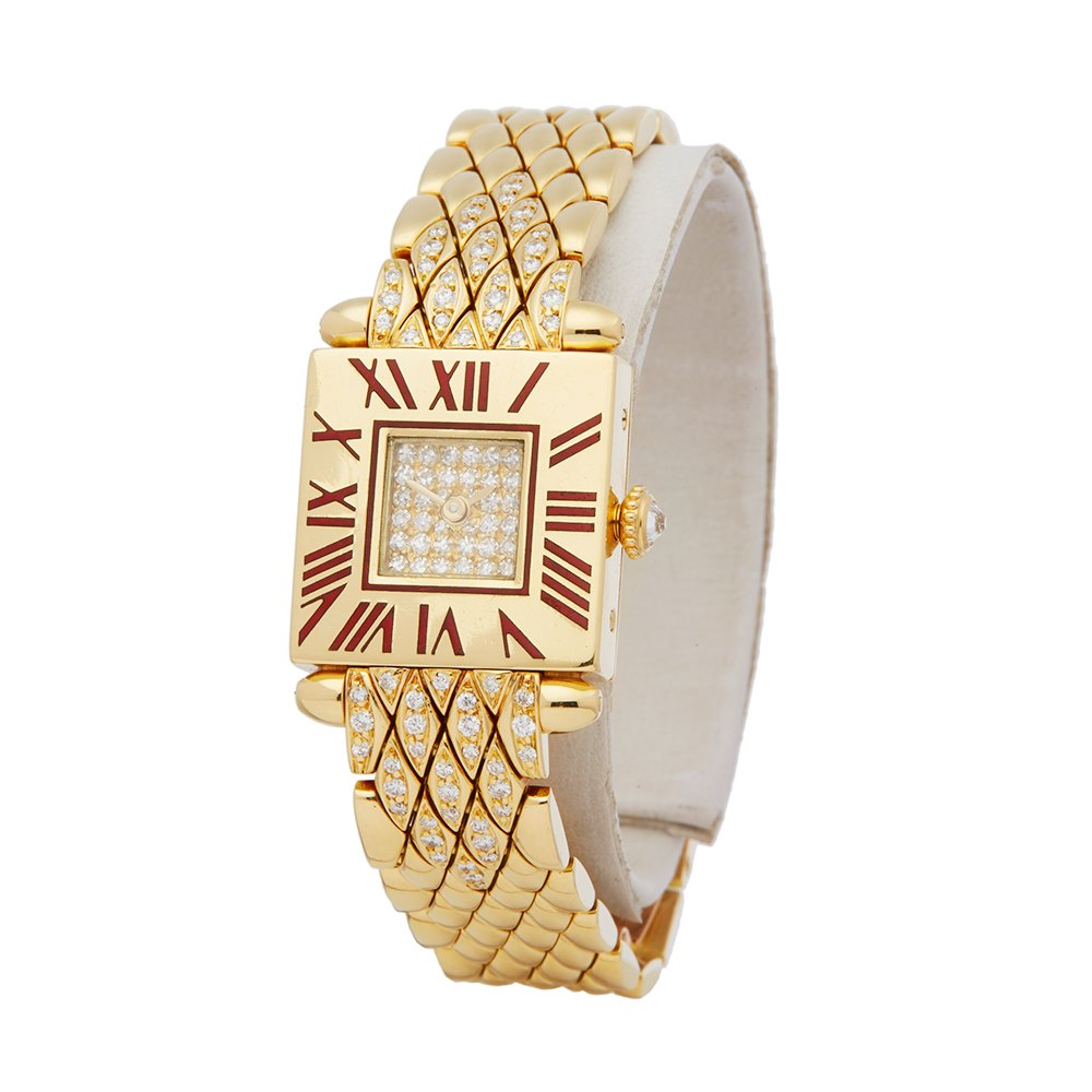 Cartier Quadrant Diamond 18k Yellow Gold 89070153