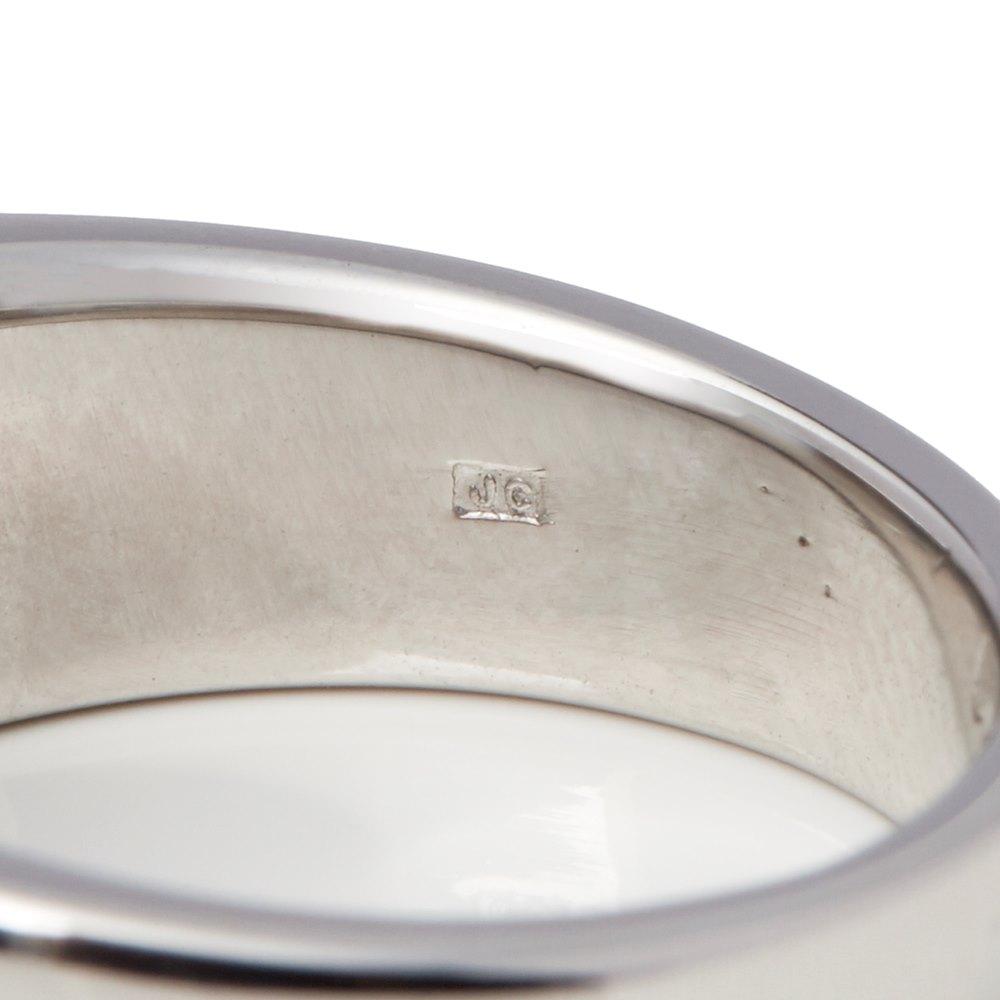 Cartier 18k White Gold Large Aquamarine Tank Ring