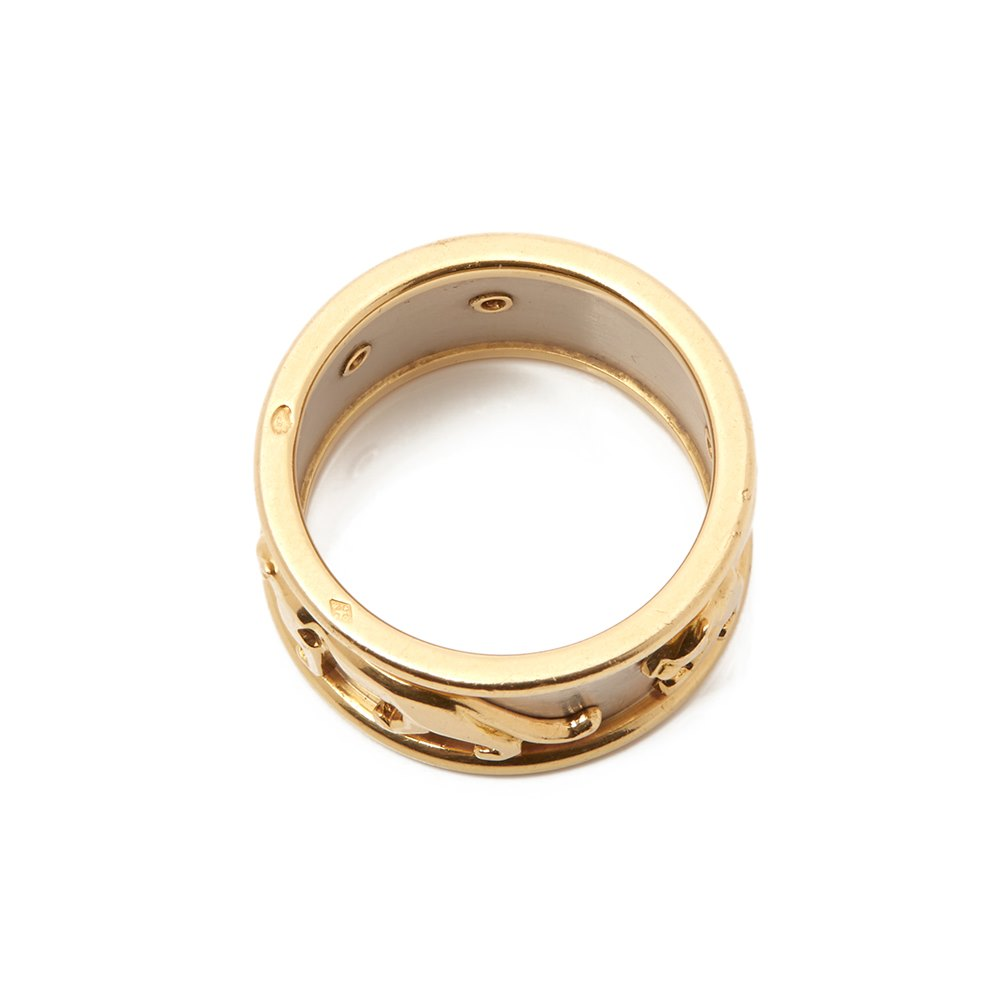 Cartier 18k Yellow & 18k White Gold Men's Panthère Ring