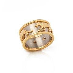 Cartier 18k Yellow & 18k White Gold Men's Panthère Ring