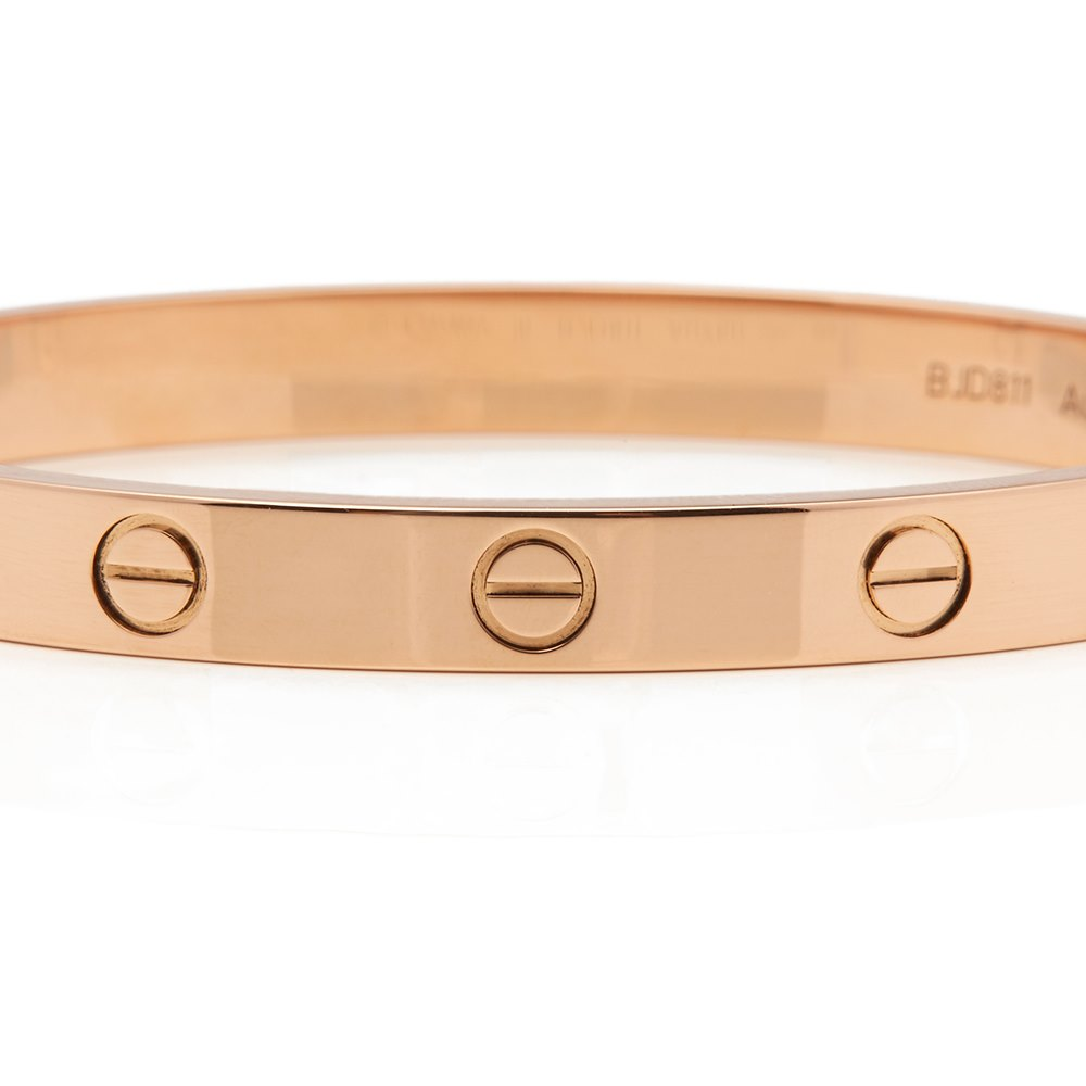 Cartier 18k Rose Gold Love Bangle Size 16