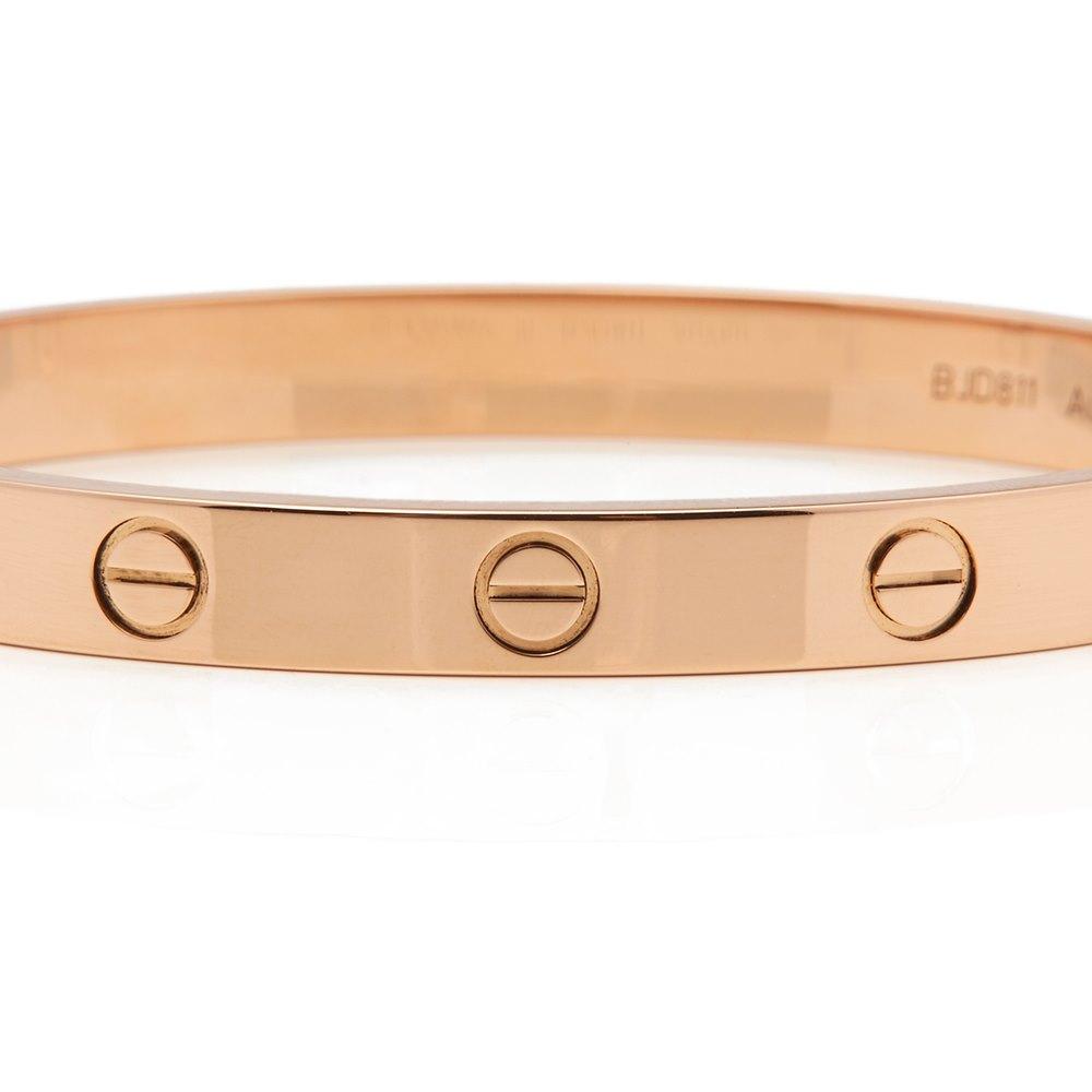 Cartier 18k Rose Gold Love Bangle Size 16
