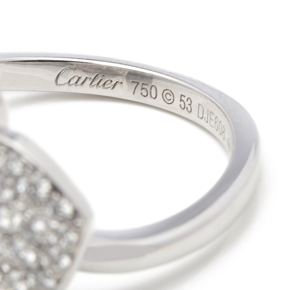Cartier 18k White Gold Diamond D'Orchidées par Cartier Flower Ring