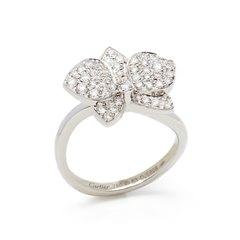 Cartier 18k White Gold Diamond D'Orchidées par Cartier Flower Ring