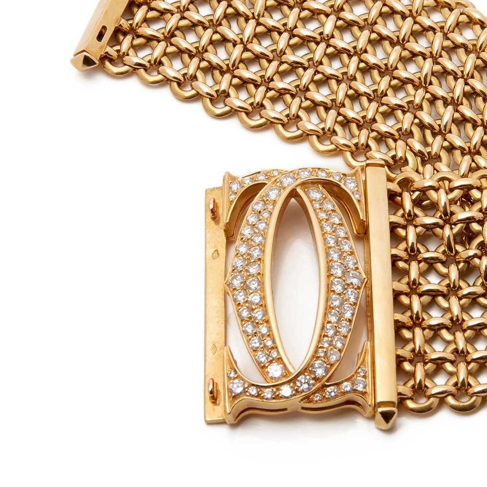 Cartier 18k Yellow Gold Diamond Large Penelope Bracelet