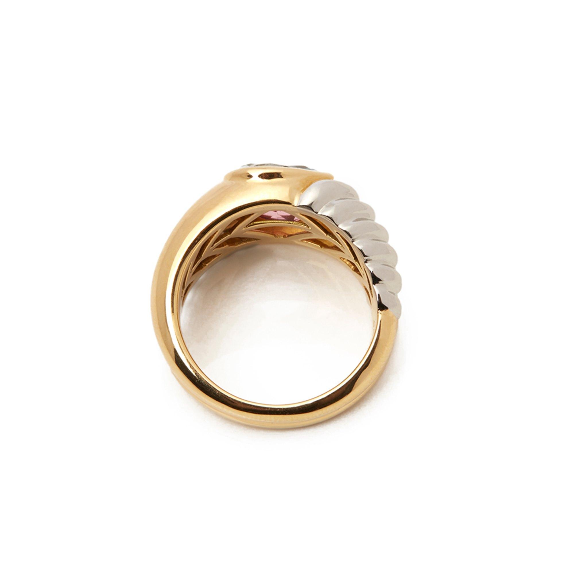 Bulgari 18k Yellow & 18k White Gold Multi-Gem Doppio Ring