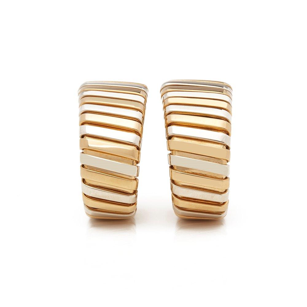 Bulgari 18k Yellow, White & Rose Gold Tubogas Earrings