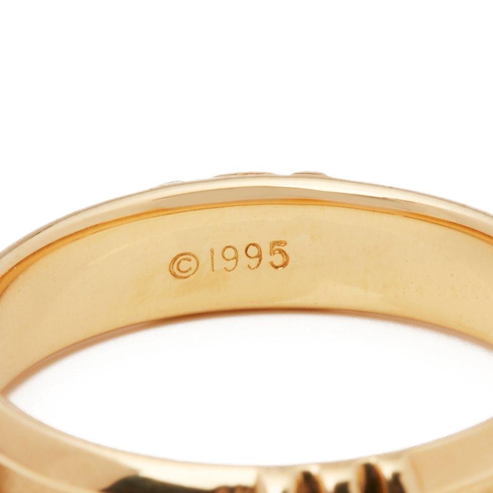 Tiffany & Co. 18k Yellow Gold 1995 Atlas Ring