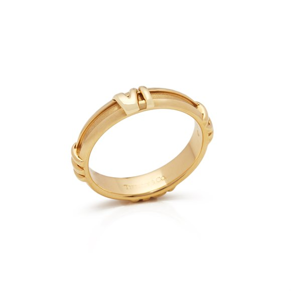 Tiffany & Co. 18k Yellow Gold 1995 Atlas Ring