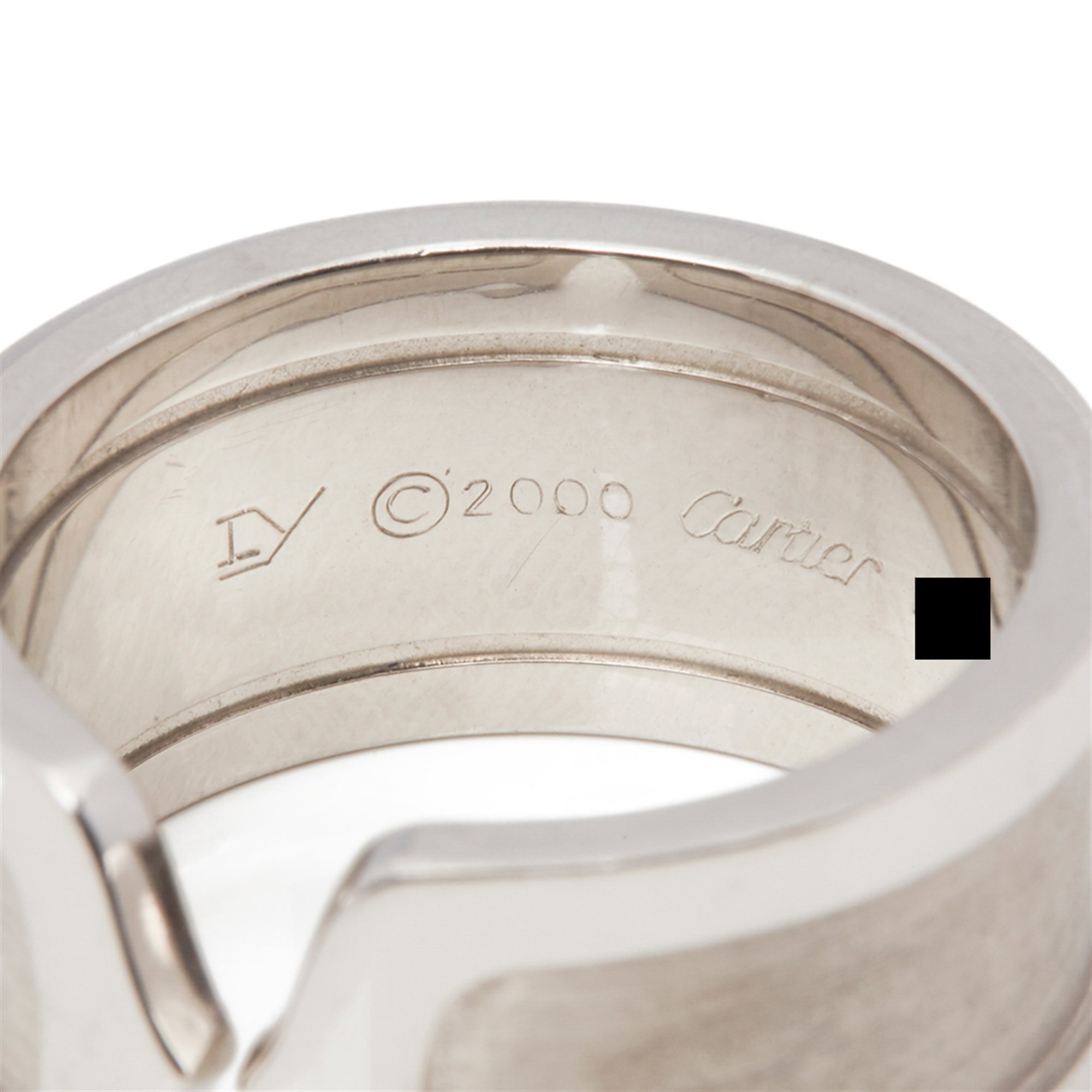 Cartier 18k White Gold C De Cartier Ring