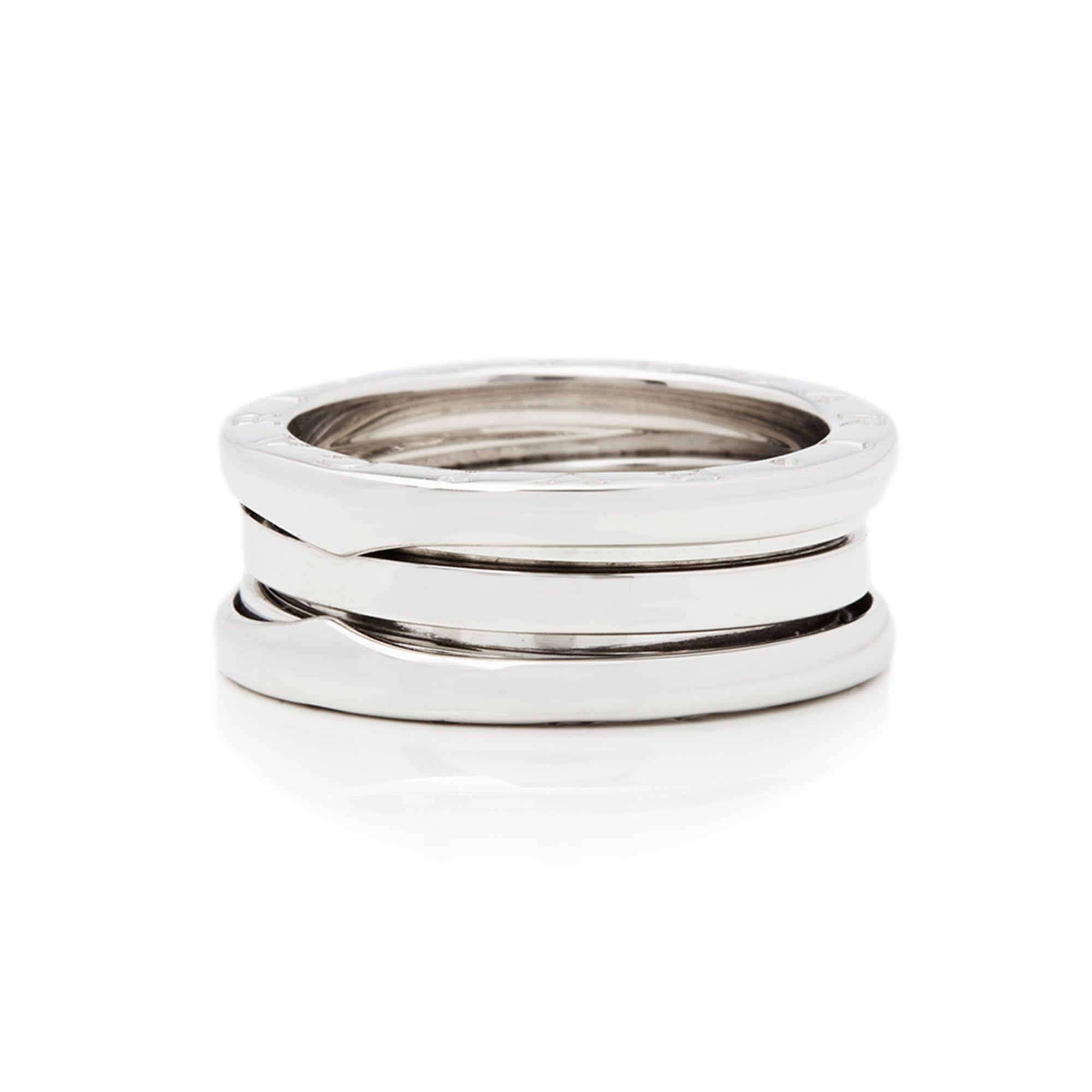 Bulgari 18k White Gold 4 Band B.Zero 1 Ring