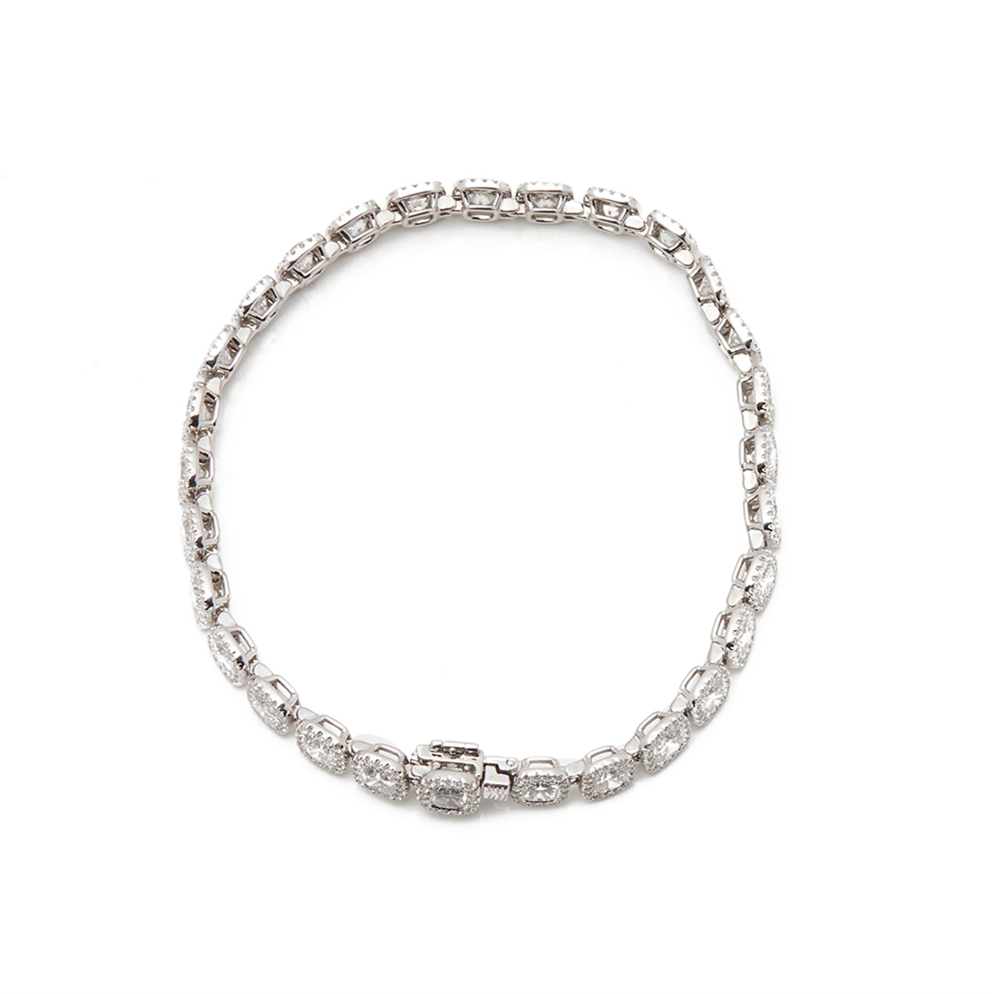 De Beers Platinum Cushion Cut 12.83ct Diamond Aura Bracelet