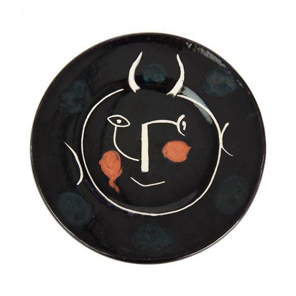 Pablo Picasso Ltd Edition Service Visage Noir Plate 1948
