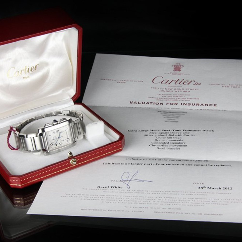 Cartier Tank Francaise Stainless Steel W51001Q3