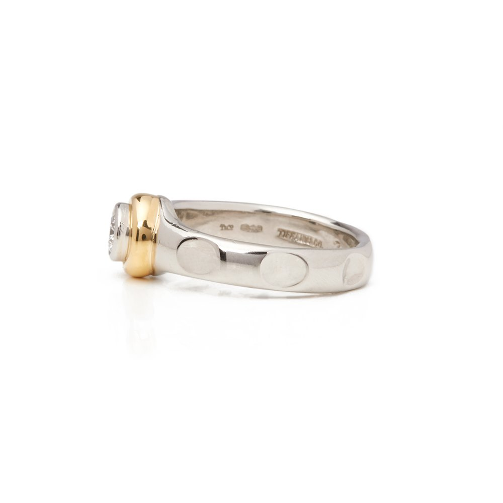 3f71b6aa9 Tiffany & Co. Platinum & 18k Yellow Gold Solitaire 0.45ct Diamond Paloma  Picasso Ring