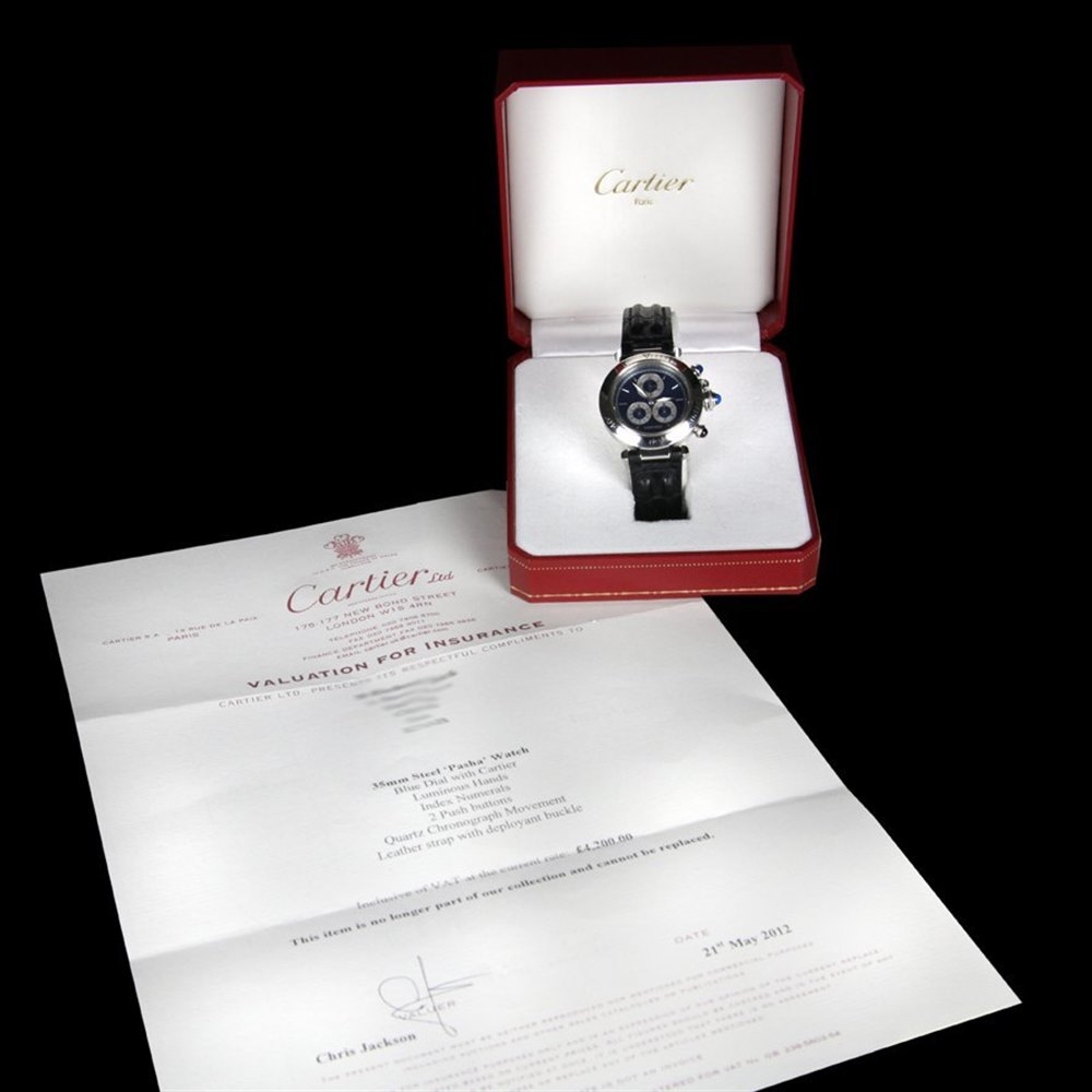 Cartier Pasha Stainless Steel 1352