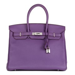 Hermès Ultraviolet Clemence Leather Birkin 35cm