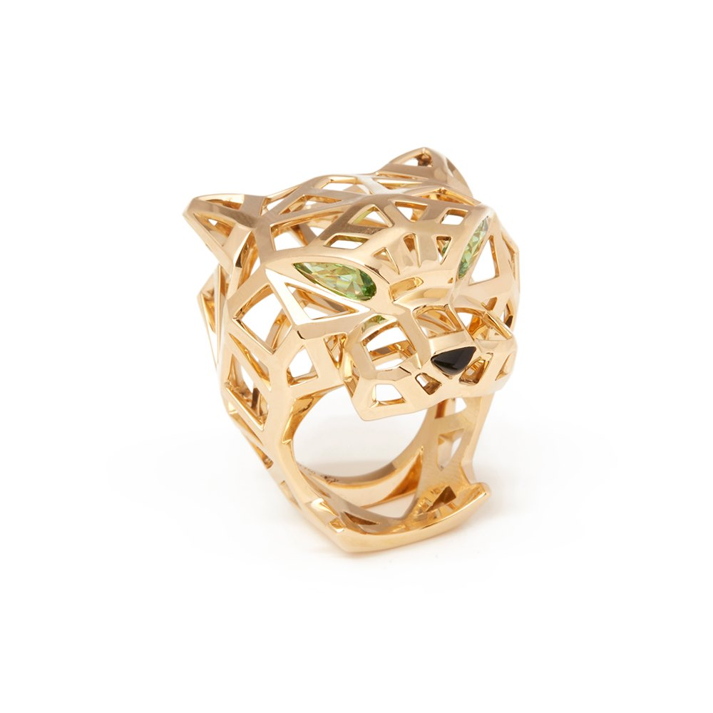 Cartier 18k Yellow Gold Large Panthère De Cartier Ring