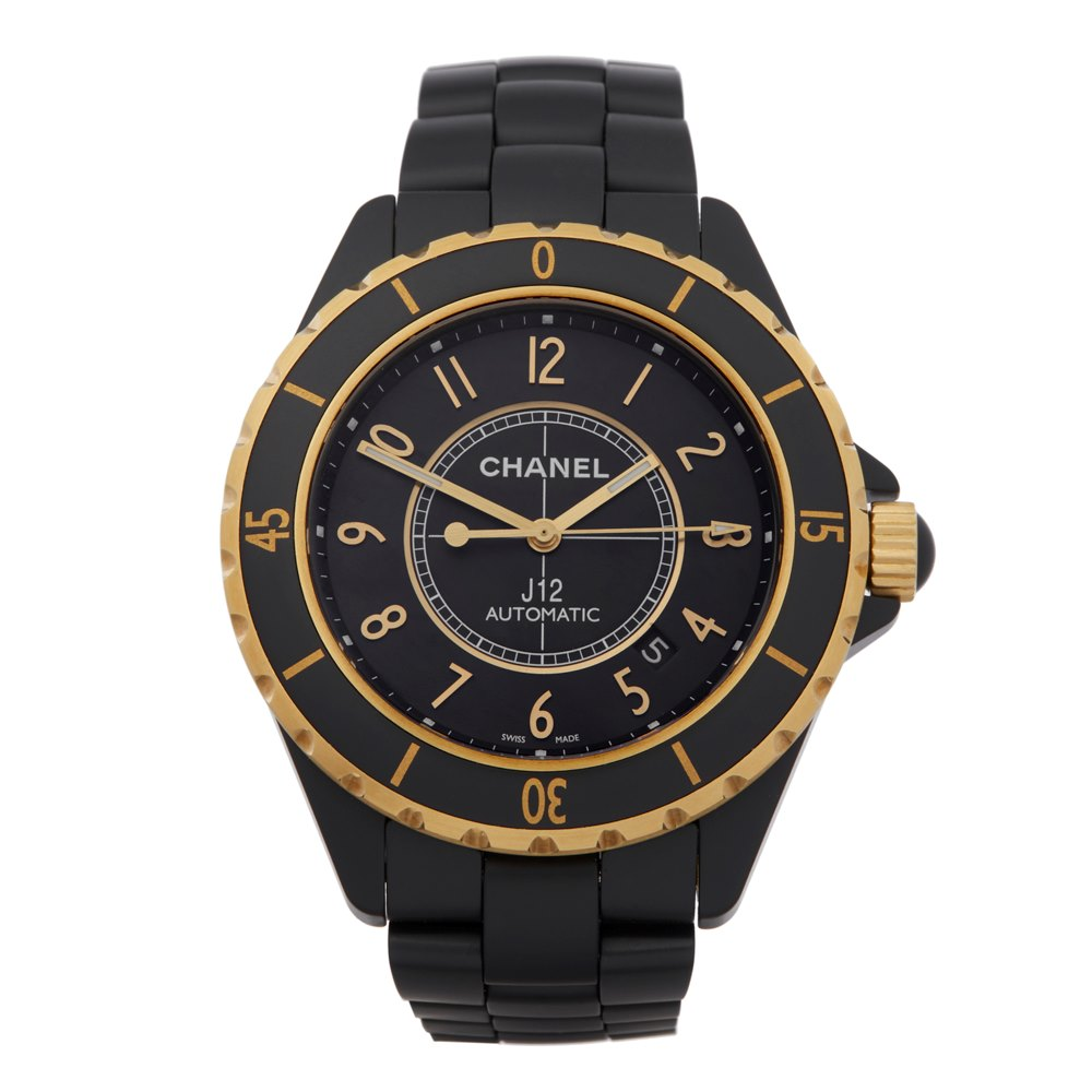 Chanel J12 Ceramic & 18K Yellow Gold H2918