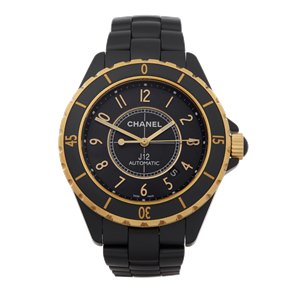 Chanel J12 Ceramic & 18K Yellow Gold - H2918