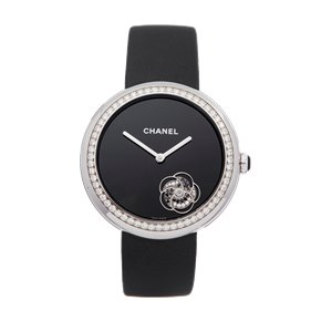 Chanel Mademoiselle Prive Diamond 18K White Gold - H3093