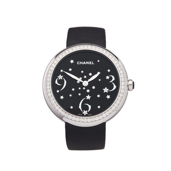 Chanel Mademoiselle Prive Diamond 18K White Gold - H3097