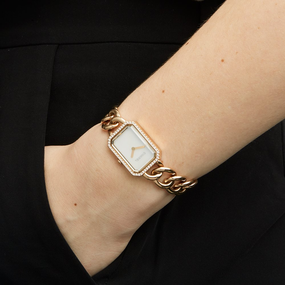 Chanel Montre Premiere Mother of Pearl Diamond 18k Rose Gold H4412