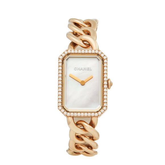Chanel Montre Premiere Mother of Pearl Diamond 18k Rose Gold - H4412