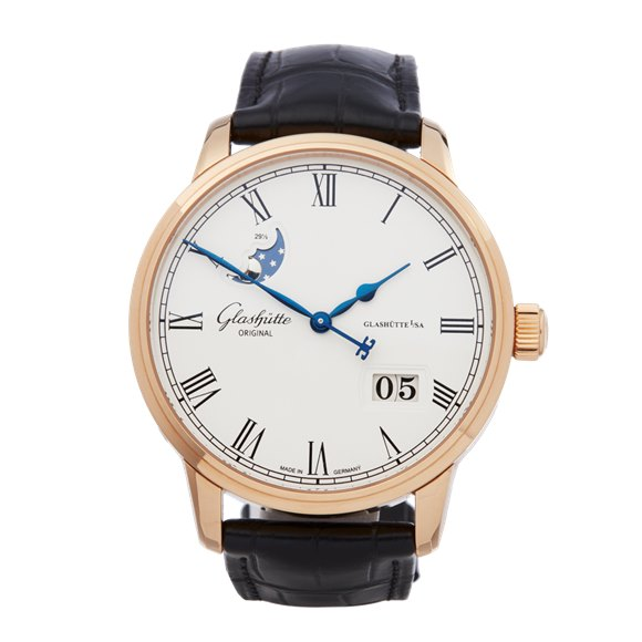 Glashutte Senator Panorama 18K Rose Gold - 100-04-32-15-04