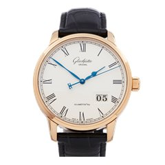Glashutte Senator Panorama 18K Rose Gold - 100-03-32-45-04