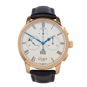 Glashutte Senator Panorama Chronograph 18k Rose Gold - 1-37-01-01-05-30