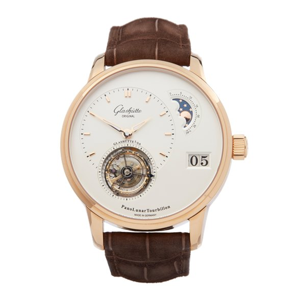 Glashutte Panolunar PanoLunar Tourbillon 18K Rose Gold - 1-93-02-05-05-05