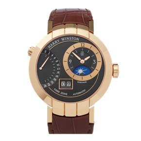 Harry Winston Premier Excenter Timezone 18k Rose Gold - PRNATZ41RR002