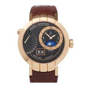 Harry Winston Premier Excenter Timezone 18K Rose Gold - PRNATZ41RR002