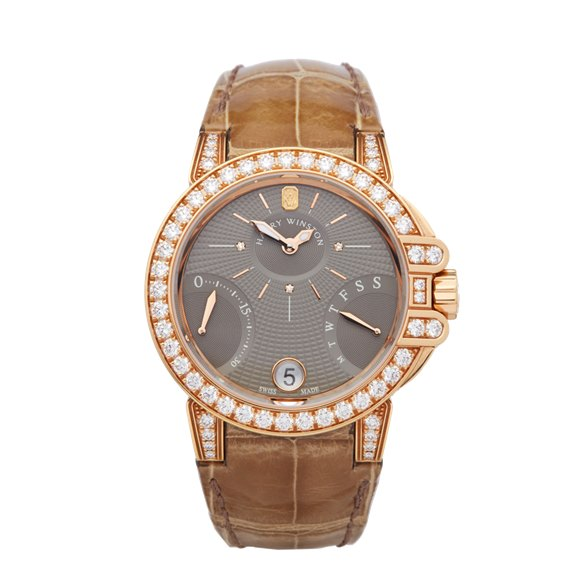 Harry Winston Ocean Biretrograde Diamond 18k Rose Gold - OCEAB136RR023