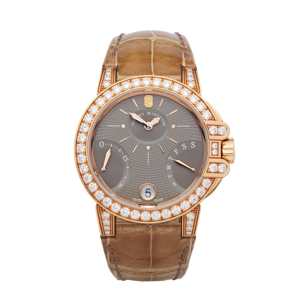 Harry Winston Ocean Biretrograde Diamond 18K Rose Gold OCEAB136RR023