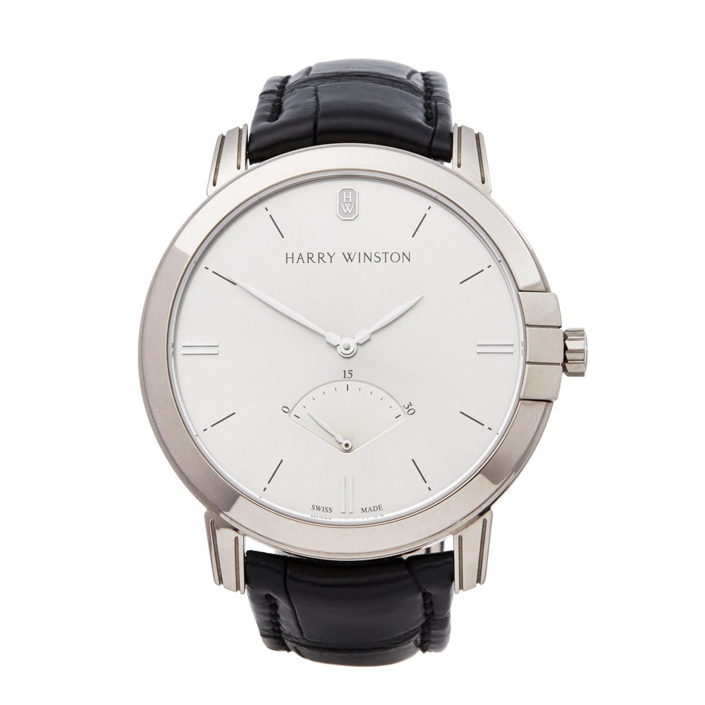 Harry Winston Midnight Retrograde 18k White Gold MIDARS42WW001