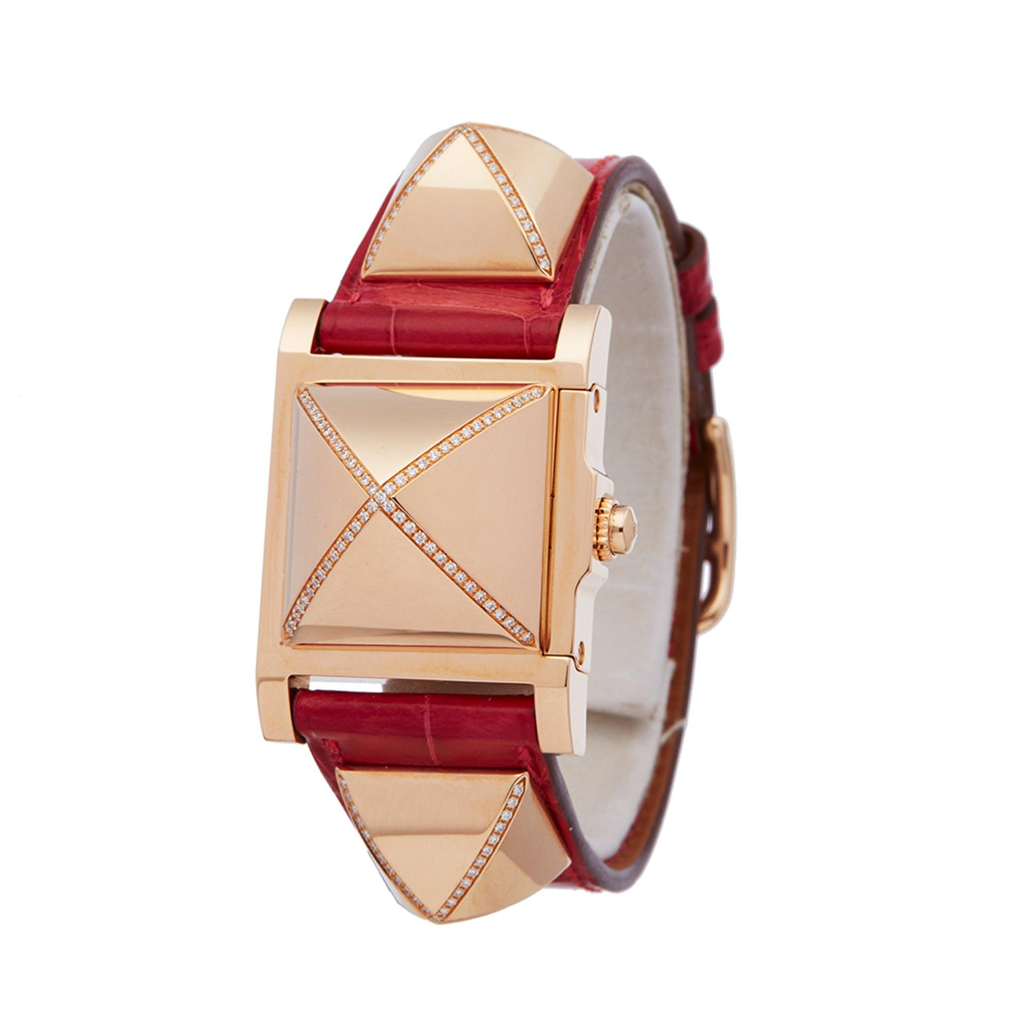 Hermès Medor Diamond 18K Rose Gold W041283WW00