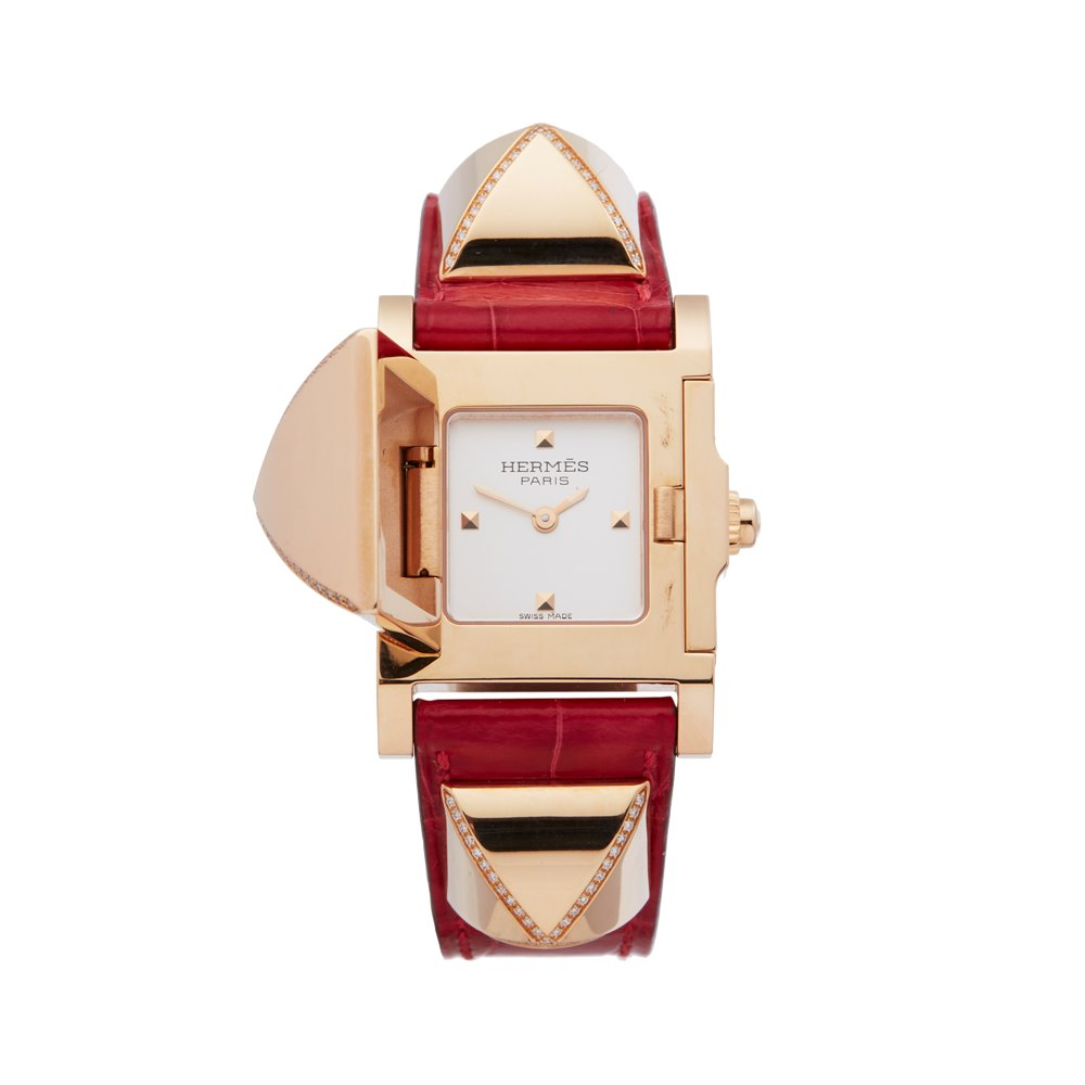 Hermès Medor Diamond Rose Gold W041283WW00
