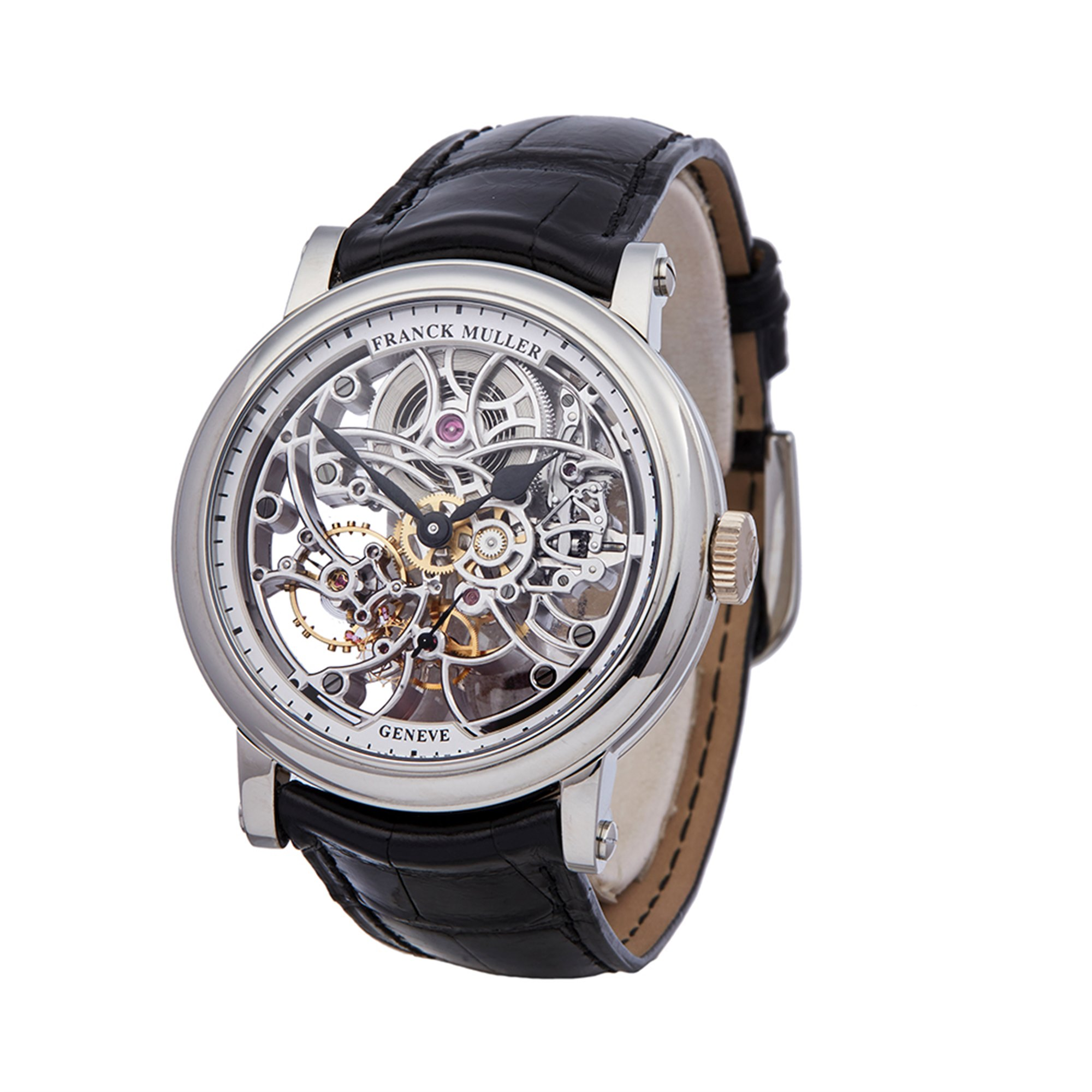 Franck Muller Round 7 Day Skeleton Stainless Steel 7042 B S65 97AC
