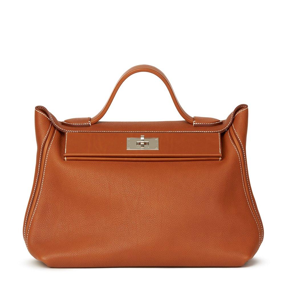 Hermès Veau Barenia   Barenia Faubourg Leather 24 24 35cm 51842f283caaf