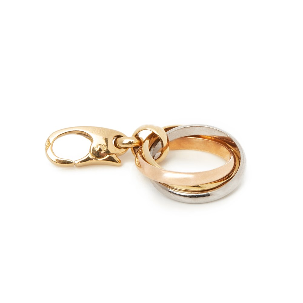 Cartier 18k Yellow, White & Rose Gold Trinity Charm Pendant
