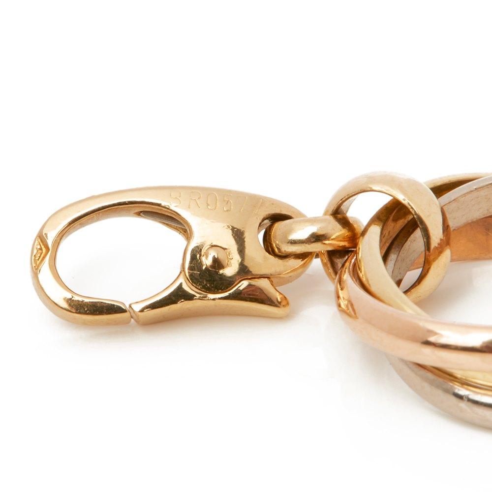 Cartier 18k Yellow, White & Rose Gold Trinity Charm Pendant