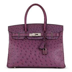 Hermès Voline Ostrich Leather Birkin 30cm